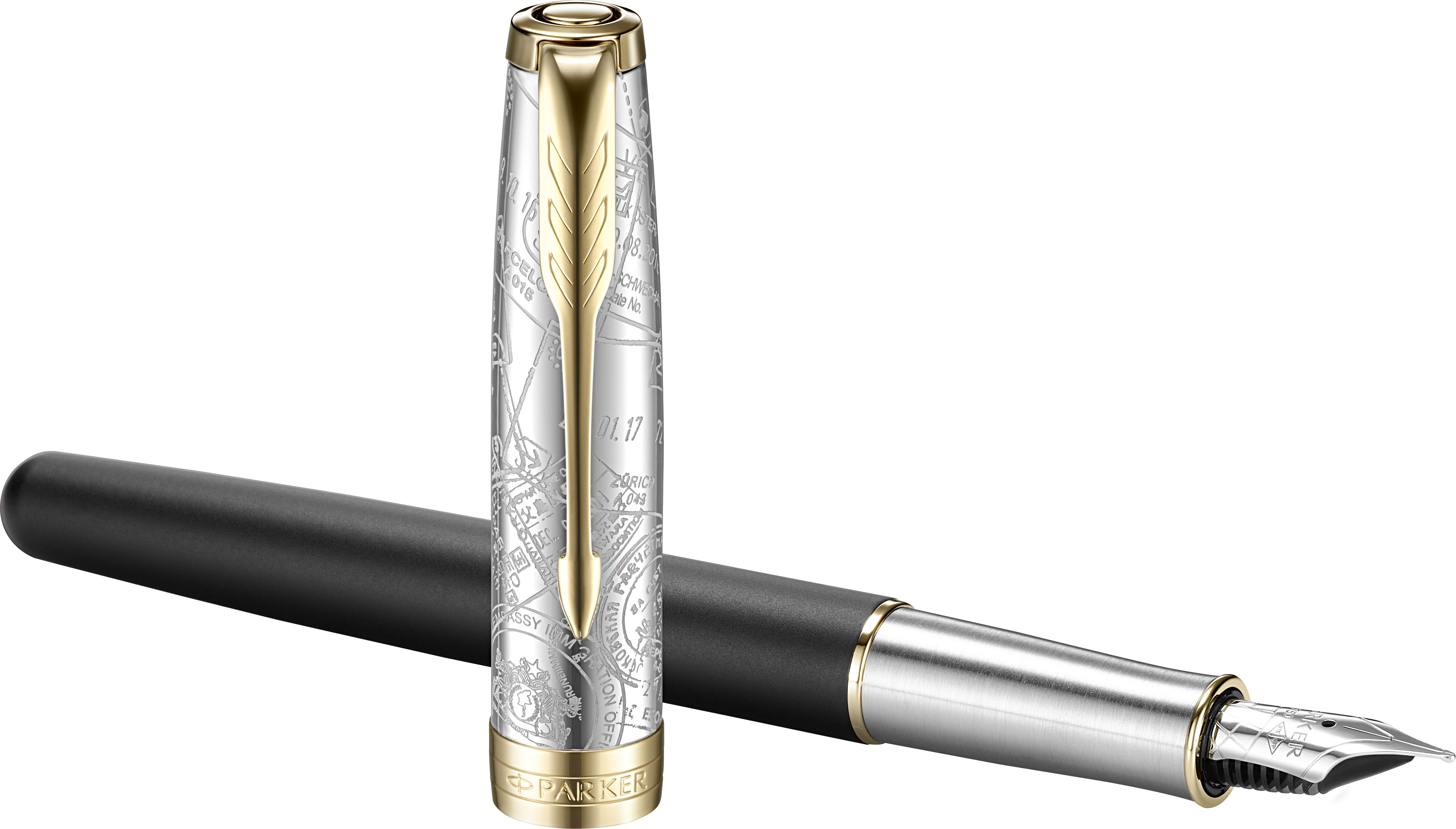 картинка Перьевая ручка Parker Sonnet Reflection Black with GoldTrim/2054834 от магазина Паркер66